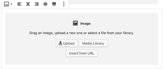Блок изображения в новом редакторе WordPress