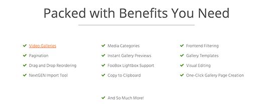 FooGallery features