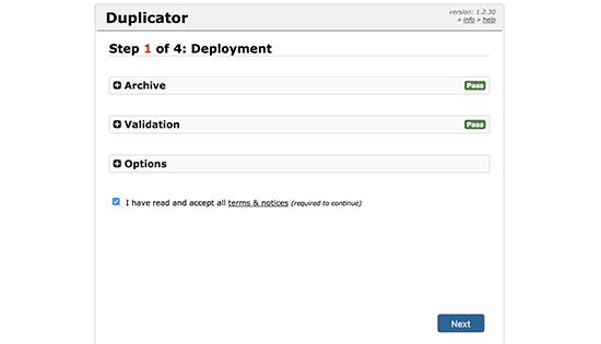 Duplicator installer initialized
