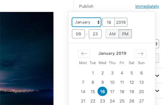 Дата и время публикации