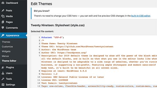 Disable file editing in WordPress