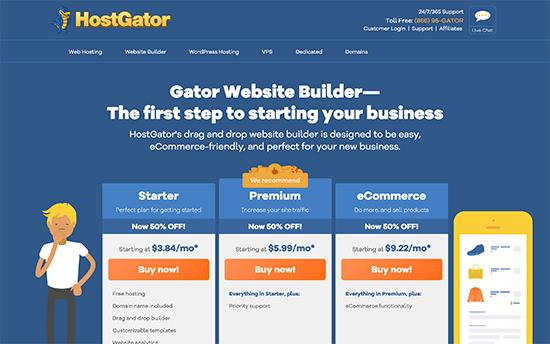Gator конструктор сайтов от HostGator