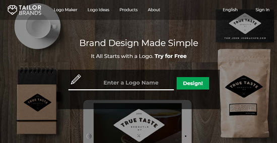 Tailor Brands' logo maker