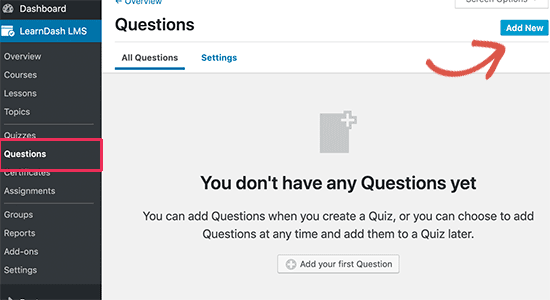 Add new question