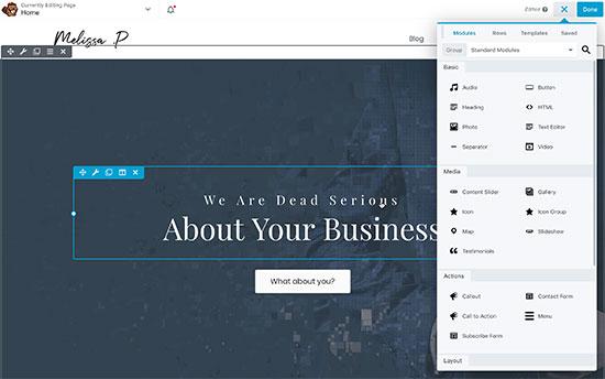 Creating a custom homepage using Beaver Builder