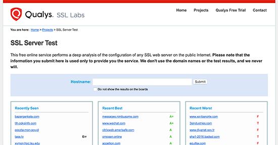 SSL test tool