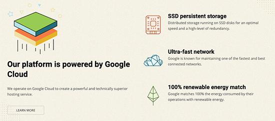 SiteGround is on Google Cloud Platform