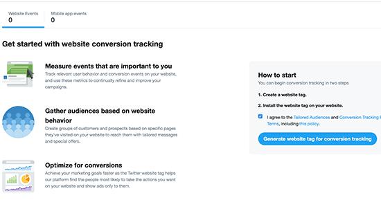 Twitter 사이트 태그 생성