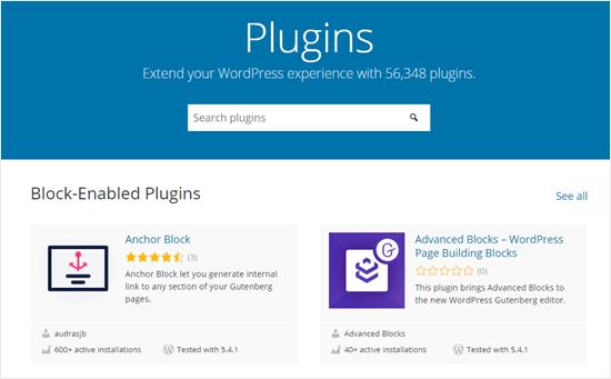 Halaman plugin WordPress resmi