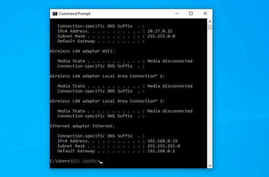 Renewing your computer's IP address