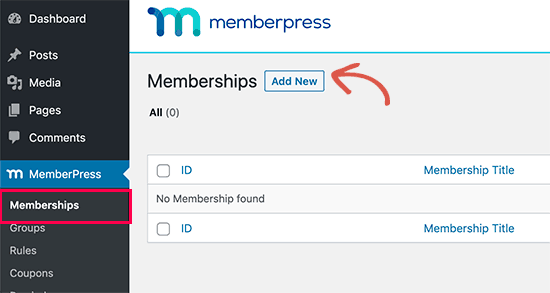Add new membership