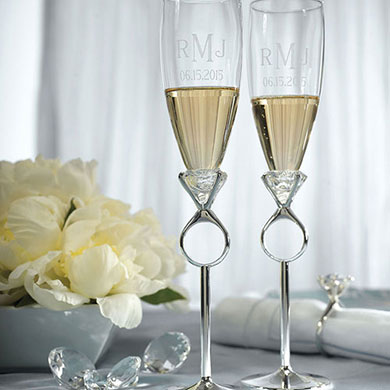 Wedding Or Engagement Champagne Glasses
