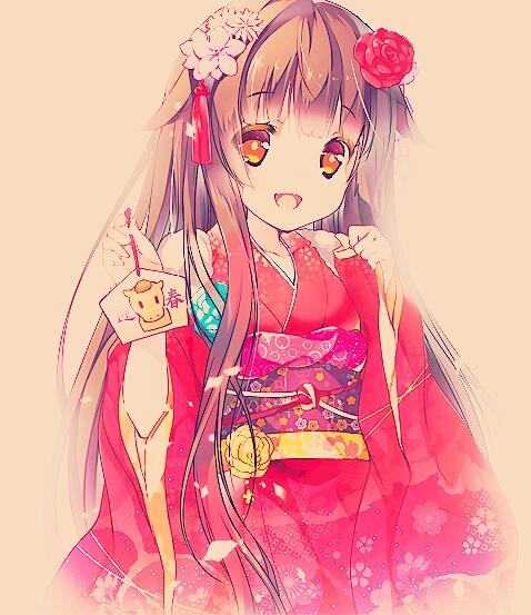 Kimono Anime Girl Android Wallpaper Cute Girl Follow Me ♡ Anime Girl Kimono Beautiful
