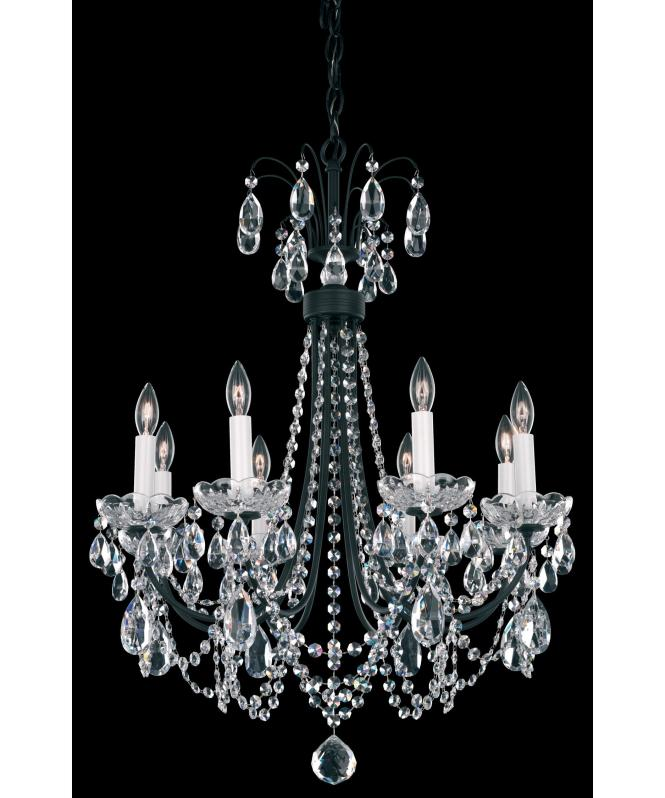 Shown In Ferro Black Finish And Clear Heritage Handcut Crystal