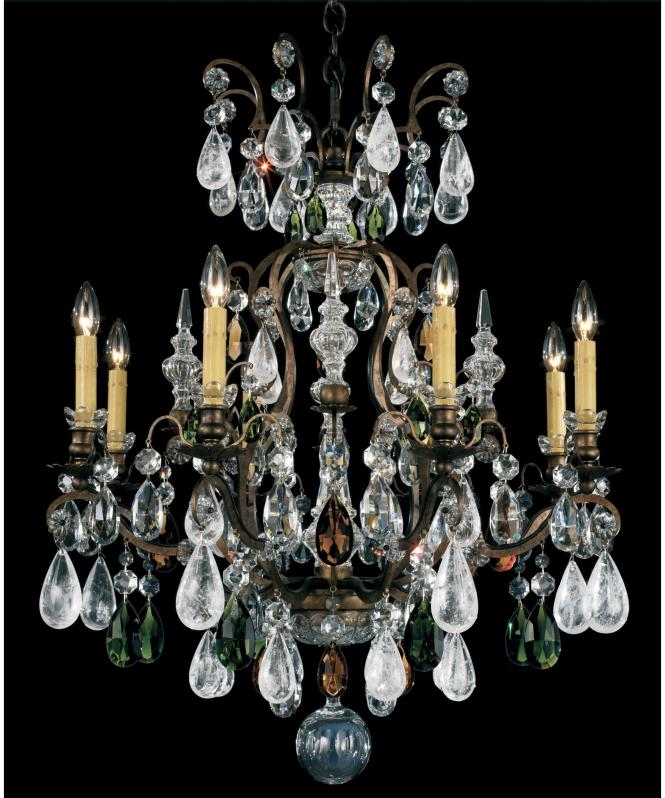 Shown In Heirloom Bronze Finish And Olivine Smoke Crystal