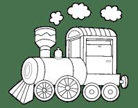 Disegno di Locomotiva a vapore da Colorare