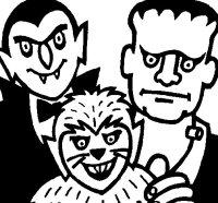 Disegno di Personaggi Halloween da Colorare - Acolore.com