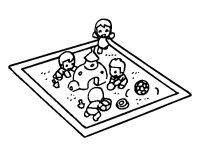 Disegno di Vasca di sabbia da Colorare - Acolore.com