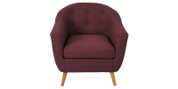 Purple Round Back Accent Chair having Single Tufted Buttons