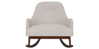 Coconut White Rocking Accent Chair