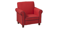 Red Toddler Armchair with Trim Details