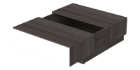 Sliding Top Coffee Table with Central Storage
