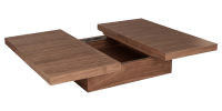 Sliding Top Coffee Table with Large Central Storage