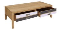 Transitional Coffee Table with a Charming Rustic Look