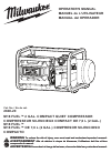 Milwaukee Compressor Manuals and User Guides PDF Preview