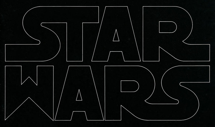 Suzy Rice's original Star Wars logo design.