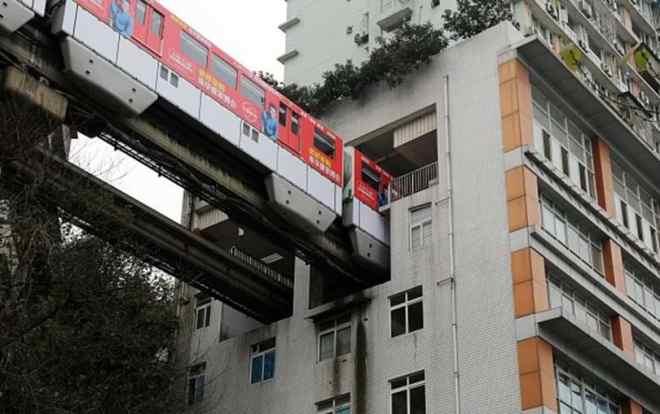 Estação de Liziba, em Chongqing, China