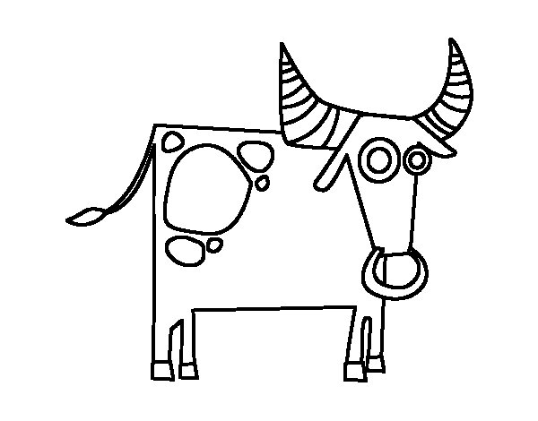 Taurus Horoscope Coloring Page