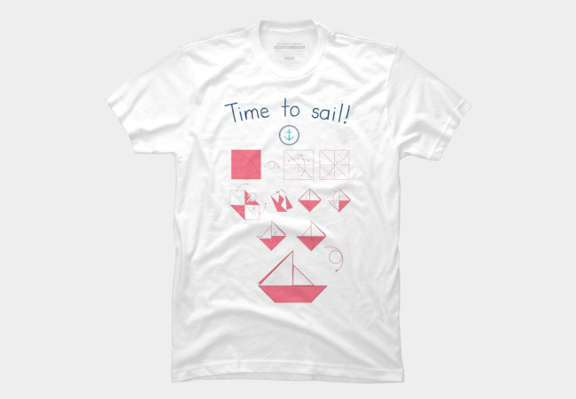 Time To Sail T Shirt By AlessandroAru Design By Humans