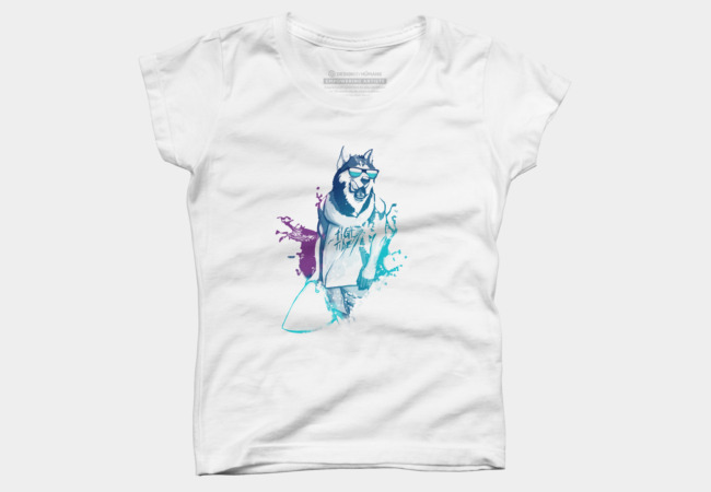 Surfing Dog T Shirt By Sebiondbh Design By Humans