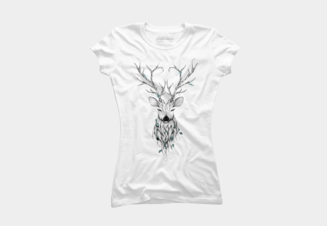 Poetic Deer T Shirt By LouJah Design By Humans