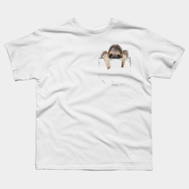 Sloth Pocket T Shirt By Fluiddruid Design By Humans