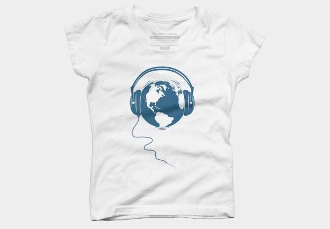 Listen T Shirt By Ledude Design By Humans