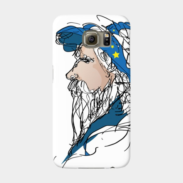 Old Wizard Magic Doodle Sketch Art Phone Case By