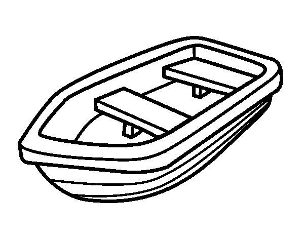 Dibujo de Barca para Colorear  Dibujosnet