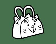 Dibujo de Bolso cara de gato para Colorear