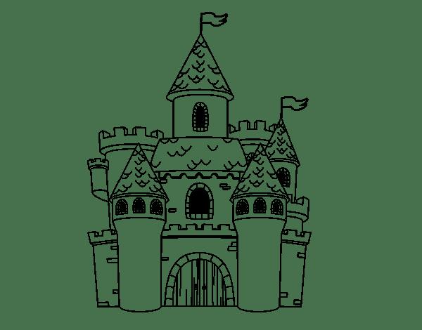 Castillo De Arena Dibujo Para Colorear E Imprimir