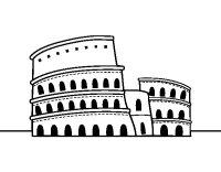 Dibujo de El Coliseo de Roma para Colorear - Dibujos.net