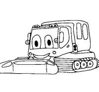 Dibujo de Excavadora 1 para Colorear - Dibujos.net