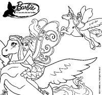 Dibujo de Hadas con sus caballos mgicos para Colorear