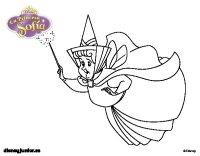 Dibujo de La Princesa Sofia - Hada madrina Flora para ...