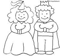 Dibujo de Princesa y rey para Colorear - Dibujos.net