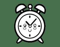 Dibujo de Reloj despertador para Colorear - Dibujos.net