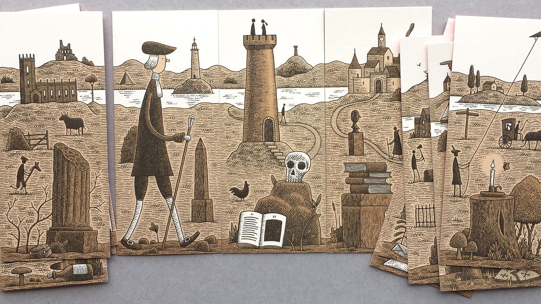Tom Gauld Illustrates Cards That You Can Rearrange To Tell