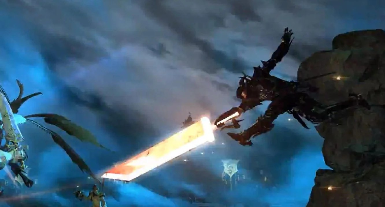 Final Fantasy XIV A Realm Reborns Omnislash Pays Homage To Clouds Buster Sword From FFVII