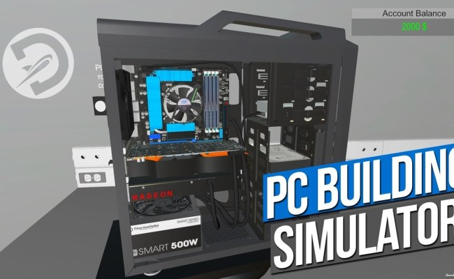 Pc Building Simulator Surpasses 100 000 Copies Sold Within